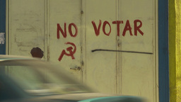 HD2009-11-18-36 Arica no vote anarchy spray paint Stock Video Footage