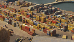 HD2009-11-18-40 Arica aerial containor port Stock Video Footage