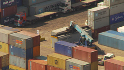 HD2009-11-18-44 Arica aerial containor port Footage