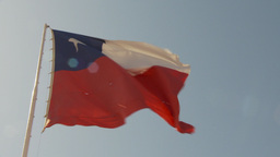 HD2009-11-18-45 chilean flag Stock Video Footage