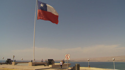 HD2009-11-18-52 chilean flag on cape Footage