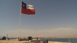 HD2009-11-18-52 chilean flag on cape Stock Video Footage
