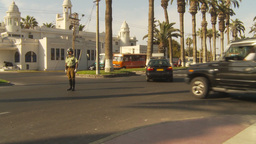 HD2009-11-18-58b Arica chilean police directs traffic Footage