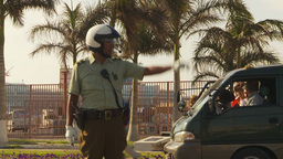 HD2009-11-18-60 Arica chilean police directs traffic Stock Video Footage