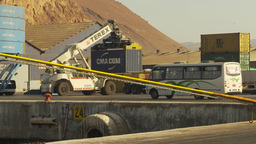 HD2009-11-18-66 containor port crane Stock Video Footage