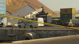 HD2009-11-18-66 containor port crane Footage