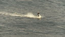 HD2009-11-19-4 jet skier in harbour Stock Video Footage
