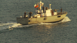 HD2009-11-19-6 Chilean navy patrolboat Stock Video Footage
