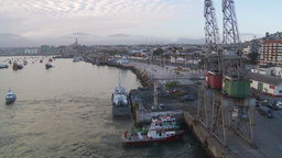 HD2009-11-19-14 Coquimbo harbor Stock Video Footage
