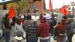 HD2009-10-5-2 peaceful protest chant nazis out Stock Video Footage
