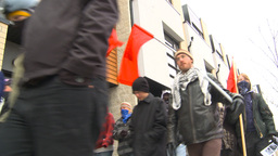 HD2009-10-5-4 peaceful protest march Stock Video Footage