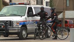 HD2009-10-5-6 police on bikes with van Footage