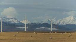 HD2009-10-6-1a wind turbines Stock Video Footage