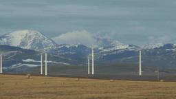 HD2009-10-6-5 wind turbines TL Stock Video Footage