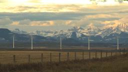 HD2009-10-6-7 wind turbines TL dramatic sunrise colour on... Stock Video Footage