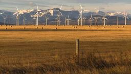 HD2009-10-6-19 wind turbines Stock Video Footage