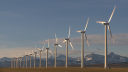 HD2009-10-6-23 wind turbines Stock Video Footage