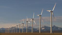 HD2009-10-6-23 wind turbines Stock Video Footage