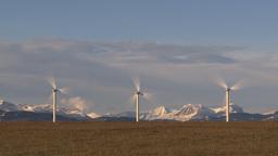 HD2009-10-6-25 wind turbines TL Stock Video Footage