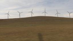 HD2009-10-7-2 drive along wind turbines Footage
