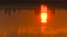 HD2009-9-1-4 sunrise prairie pond reflection Stock Video Footage