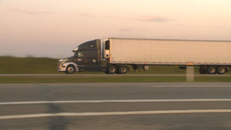 HD2009-9-1-6 early morning TN truck highway Stock Video Footage