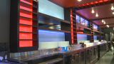 HD2009-9-2-1 Bar Scene Wine Pour X4 stock footage