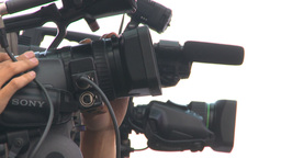 HD2009-9-3-1 TV cameras x3 Stock Video Footage