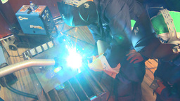 HD2009-9-7-3 arc weld x3 Stock Video Footage
