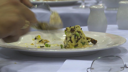 HD2009-9-12-1 eating meals x5 Stock Video Footage