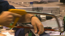 HD2009-8-14-2 hack sawing Stock Video Footage