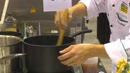 HD2009-8-15-2 Restarant meal prep montage Footage