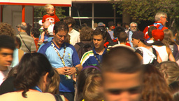 HD2009-8-15-4 festival crowd Stock Video Footage