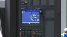 HD2009-8-16-2 computer wall unit Stock Video Footage