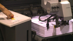HD2009-8-16-4 paper press Stock Video Footage