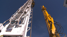 HD2009-9-17-9 drill rig arm hi angle Footage