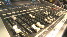 HD2009-9-19-2 soundboard with shadows Stock Video Footage