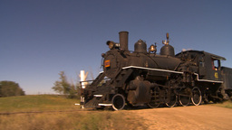 HD2009-9-31-25 steam train pan Stock Video Footage