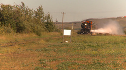 HD2009-9-32-3 steam train nice plume LL Stock Video Footage