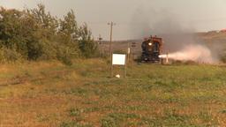 HD2009-9-32-3 steam train nice plume LL Footage