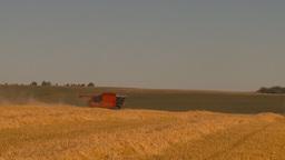 HD2009-9-32-15 grain harvest combine WS Stock Video Footage