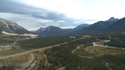 HD2009-9-33-3b aerial Bow valley Stock Video Footage