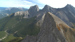 HD2009-9-33-5 aerial mountains Stock Video Footage