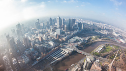 4k timelapse video of the CBD of a city in daytime Footage
