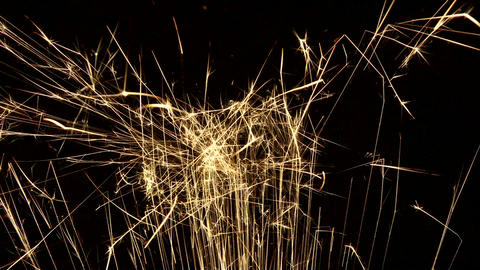 Sparks Shooting Up 01 stock footage