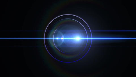 Opening intro Flash light flare B 1 blue 4k Animation