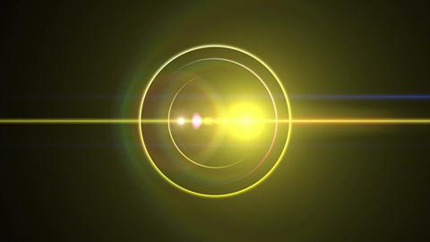 Opening intro Flash light flare B 1 yellow 4k Animation