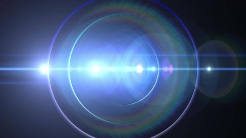 Opening intro Flash light flare B 2 blue Short 4k Animation