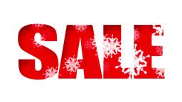 Sale Text Holidays Snow (Loop) Animation