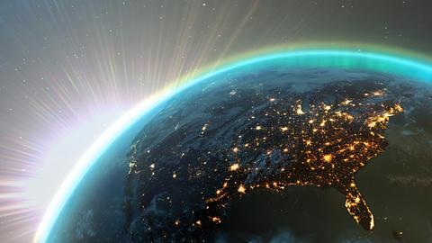 Planet earth America HD Animation